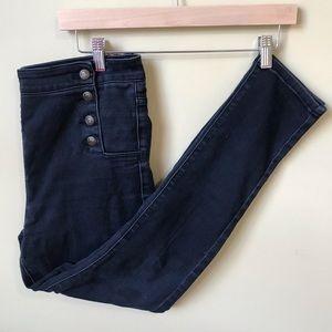 Button Detail Skinny Jean